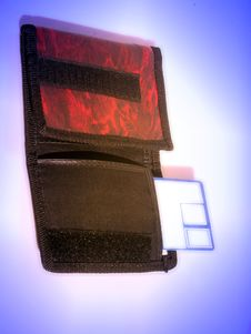 Free Credit Card And Pouch. Stock Image - 1463301