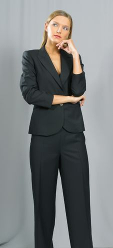 Free Young Beautiful Smiling Business Woman Stock Images - 1463404