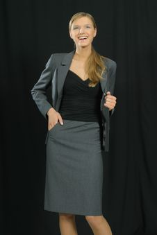 Free Young Beautiful Smiling Business Woman Stock Photos - 1463513