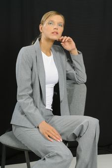 Free Young Beautiful Smiling Business Woman Stock Photography - 1463592