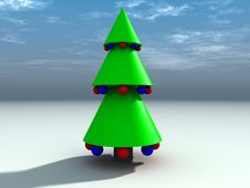Free Christmas Tree 7 Royalty Free Stock Photo - 1464825