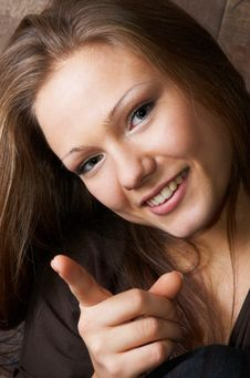 Free Threatening And Smiling Beauty Stock Photos - 1465243