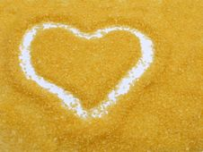 Free Heart Drawed On Bath Salt Stock Photography - 1465502