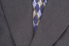 Coat And Tie Upclose Stock Photo