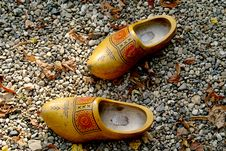 Free Wooden Shoes In The Gravel Stock Photo - 1468750