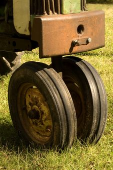 Antique Tractor Wheels Royalty Free Stock Photos