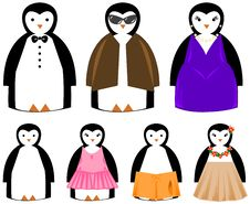 Free Cute & Fun Penguins [VECTOR] Stock Photo - 1469770