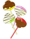 Free Candy On A Stick With Chocolate And Vanilla Glazin Royalty Free Stock Photo - 14601315