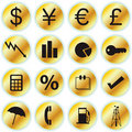 Free Finance Icons Royalty Free Stock Image - 14604186