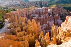 Bryce Canyon With Stone Formation Royalty Free Stock Photos