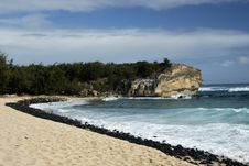 Lava Beach Royalty Free Stock Photo