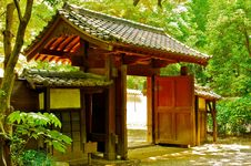 Japanese Temple Entrace Stock Photo