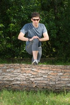 Free Middle Age Man Making Stretching Movements Stock Photos - 14601603