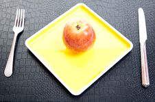 Go On A Diet With An Apple Stock Photography