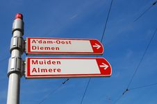 Free Route Signs In Amsterdam Stock Photography - 14602282