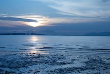 Free Sun Rise At Penang Bridge Stock Image - 14602631