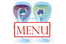 Free Menu And Two Glasses Stock Photo - 14602660
