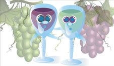 Free Glasses Of Wine And Grape Stock Photo - 14602670