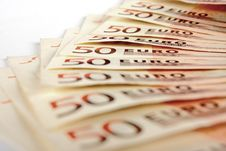 Free Fifty Euro Notes Royalty Free Stock Image - 14603196