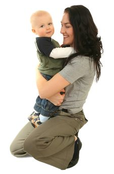 Happy Mother With Little Son Stock Photos