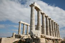 Free Greek Temple Of Poseidon Royalty Free Stock Images - 14604009