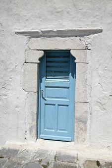 Free Blue Door In Greece Stock Images - 14604034