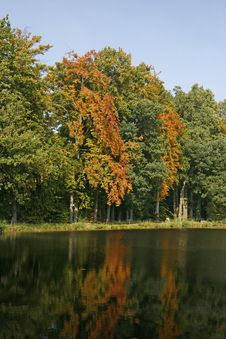 Free Pond In Autumn, Georgsmarienhuette, Germany Stock Photography - 14604072