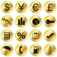 Finance Icons Royalty Free Stock Image