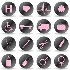 Free Medical Icons Royalty Free Stock Images - 14604279