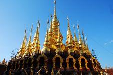 Free Ten Pagodas. Stock Image - 14604391