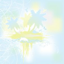 Tropical Island Banner Royalty Free Stock Images