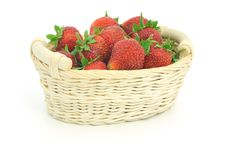 Free Red Strawberry In A Basket Royalty Free Stock Images - 14604569