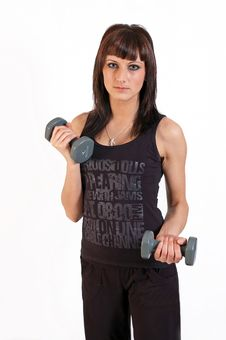Free Woman Lifting Weights Royalty Free Stock Images - 14604779