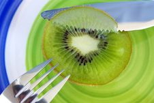 Free Kiwi, Knife And Fork Royalty Free Stock Photos - 14604848