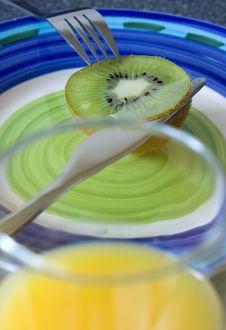 Free Kiwi, Knife And Orange Juice Royalty Free Stock Photo - 14604855