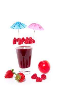 Free Fresh Made Raspberry Cocktail Stock Photography - 14605082
