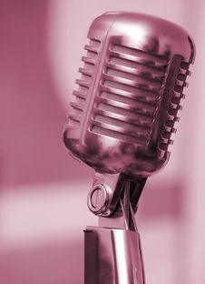 Free Microphone On Floor Stand Royalty Free Stock Photo - 14605825