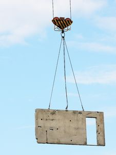 Free Concrete Block Lifted By Tower Crane Stock Photo - 14605920