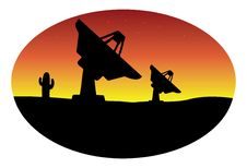 Satellite Dish Alien Stock Image