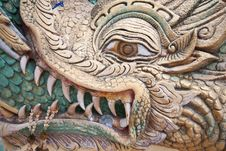 Free Dragon Face Carved Stock Photos - 14606923