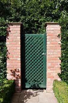 Free Secret Garden Gate Royalty Free Stock Image - 14607086