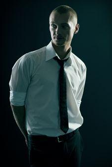 Handsome Guy In Studio Stock Photo