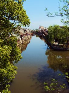 Fengjing Water Town Royalty Free Stock Photos
