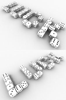 Free Playing Cube S Royalty Free Stock Photo - 14607715