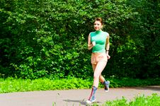 Free Girl Jogging Stock Photos - 14607843