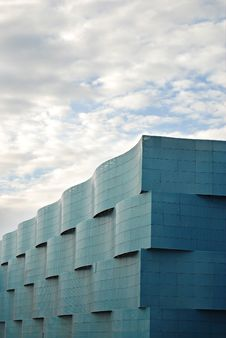 Free Blue Wavy Steel Clad Building Stock Photos - 14607903