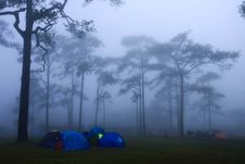 Free Tent And The Mist Royalty Free Stock Photos - 14607928