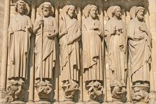 Free Notre Dame Cathedral Main Entrance Element Stock Image - 14608841