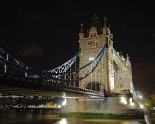 Free Illuminated Tower Bridge At Night 3 Stock Image - 14609031