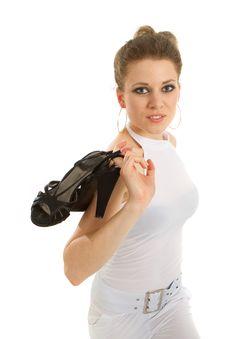 Free Young Blonde Model - Highkey Shot Stock Photography - 14609082